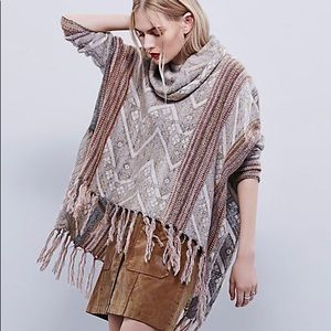 Free people be the one poncho